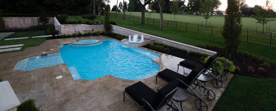 Swimming pool shapes fishel pools spas for Pool shapes with spa